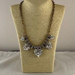 J Crew Lg. cluster rhinestones statement necklace